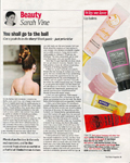 Isabelle Haddo Make-up Article - Times Magazine 05 February 2011
