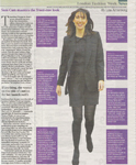 Isabelle Haddo Make-up Article -  Times Newspaper 19 February 2011